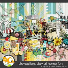 STAYCATION -STAY AT HOME FUN  COLLAB KIT BY THE ZIG ZAG SCRAP DESIGNERS  less40%  https://zigzagscrap.com/store/Staycation-by-ZZS-Designers.html