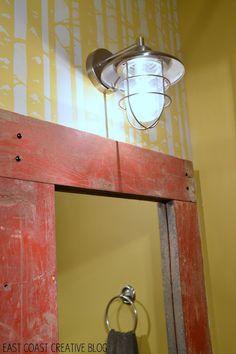 East Coast Creative: How to Make a Wood Framed Mirror