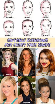 Read directions about suitable eyebrows for every face shape.