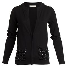 'plaza pocket' cardigan by Oroton. For a bit of understated glam