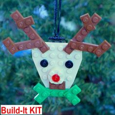 LEGO Reindeer Christmas Ornament
