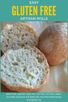 You know those amazing crusty rolls you've been missing since you went gluten free? Here they are, in all their glory, minus the gluten and dairy. :)