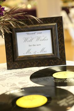 record guest book | non traditional guest book | guests sign records | mississippi weddings | guest book