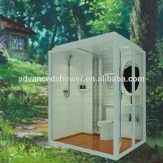 1188 Cheap And Fashinable Prefab All In One Modular Bathroom With Washing Basin For House Trailer Motel - Buy Modular Bathroom,Prefab House Modular Bathroom,Modular Bathroom With Washing Basin Product On Tiny House Bathroom, Small Bathroom, Unit Bathroom, Prefab Homes, Modular Homes, Portable Bathroom, Prefab Buildings, Shower Cabin, Shower Units