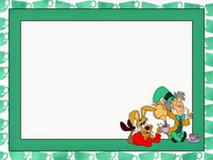 Alice in Wonderland: Free Printable Notebook in Green.