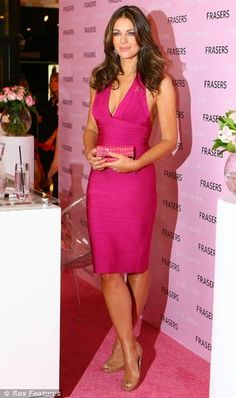 Elizabeth Hurley in a GORGEOUS pink dress!