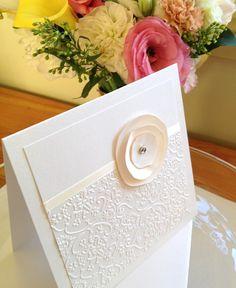 50 Handmade Wedding Invitation Cards and Envelopes DIY Printing - Cream Ivory | BiancaJane | madeit.com.au