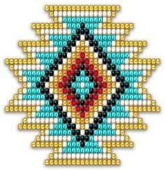 Native Style Rainbow Sunburst You are in the right place about crochet earrings white Here we offer you the most beautiful pictures about the tunisian. Seed Bead Patterns, Beaded Jewelry Patterns, Beading Patterns, Cross Stitch Patterns, Native American Patterns, Native American Crafts, Native Beadwork, Native American Beadwork, Tapete Floral