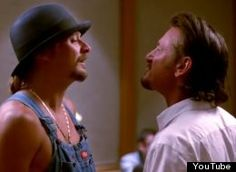 Today in unlikely bedfellows: Kid Rock and Sean Penn have teamed up to remind us all that we may though we may vote blue or red, we all bleed red . Sean Penn, Kid Rock, All Kids, Bobby, Baseball Hats, Husband, American, Group Photos, Pie