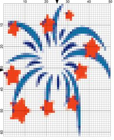 Watch Sparks Fly with This Free Fireworks Needlepoint Design: Day 175 of the 365 Needlepoint New Year's Resolutions Challenge