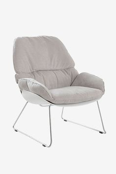 Contemporary design blended with quality fabric make the slouch a popular choice. The comfortable padded seat is supported by stylish chrome ski legs that have been built to stand the test of time making this contemporary piece both chic and practical.