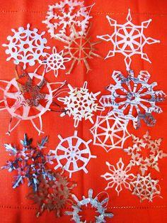 DIY Snowflakes  : DIY Waxed Paper Snowflakes