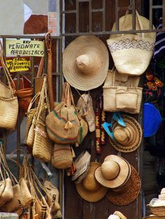 Artisan Handcrafts ~ Street Vendors in Porlamar on Margarita Island, Venezuela Street Vendor, Thinking Day, South America Travel, Yesterday And Today, Travel Memories, Straw Bag, Artisan, Tropical, Country