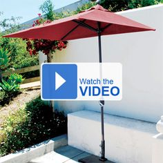 This Is A Unique Half Umbrella That Is Great For Small Patios, Decks Or Even