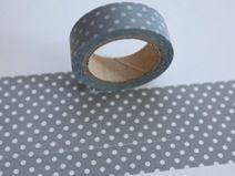 Tape PUNKTE GRAU WEISS