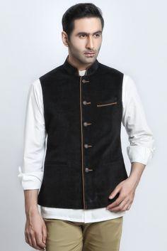 e66217fc BLACK CORDUROY VEST COAT - Vest-coat Jaihind Retail | Men Online Shopping |  Mens Clothing in Pune