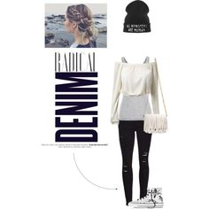 Casual with denim! by yacintashafira on Polyvore featuring Velvet by Graham & Spencer, Frame Denim, Converse, Proenza Schouler and Alima