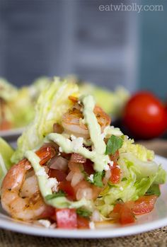 Shrimp Wedge Salad with Wholly Guacamole® Dressing.
