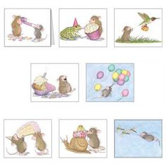 """""""8 Assorted birthday & Envs."""", Stock #: BP-14, from House-Mouse Designs®This item was recently purchased off from our web site. Click on the image to see more information."""
