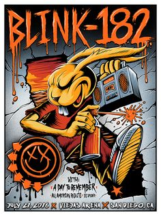 For everything Blink 182 check out Iomoio Tour Posters, Band Posters, Event Posters, Music Posters, Poster Pictures, Cool Pictures, Blink 182 Poster, Arte Punk, Band Logos