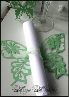 Дизайнерска Покана за сватба модел  Hawaii Пеперуда