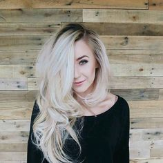 Rooty icy blonde