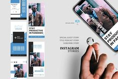 Podcast ig stories and posts keynote by rivatxfz Instagram Design, Instagram Feed, Instagram Story, Company Presentation, Business Stories, Story Template, Editing Pictures, Keynote Template, Special Guest