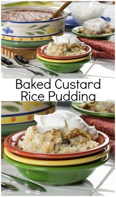 Our Baked Custard Rice Pudding can be served hot or cold. Either way, it's delicious!