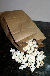 DIY Microwave Popcorn - All you need is a brown paper sack to make your own healthy microwave popcorn! | Feel Great in 8