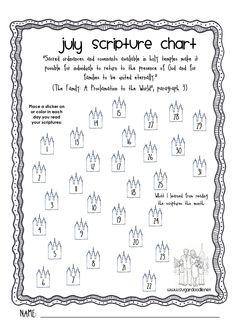 July scripture chart #lds