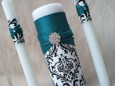 For black and teal wedding