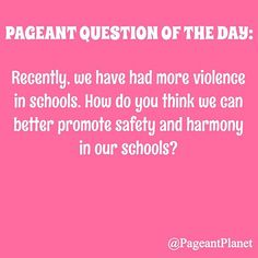 this question as you would in a pageant interview and you could be featured on in our Pageant Question of the Day section! Beauty Pageant Questions, Pageant Tips, Teen Pageant, Junior Miss Pageant, Pageant Interview Questions, Miss Oklahoma, Miss Florida, Pageant Crowns, Rodeo Queen