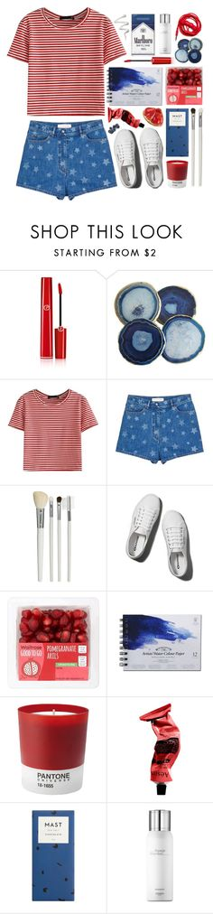 """""""☽✧ HAPPY FOURTH OF JULY"""" by blonde-scorpio-xo ❤ liked on Polyvore featuring Giorgio Armani, WithChic, Valentino, Cath Kidston, Abercrombie & Fitch, Pantone, Aesop, Urbanears and Hermès"""
