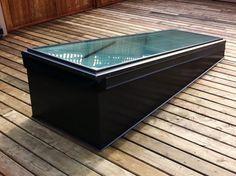 Minimized roof deck door.