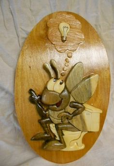 Intarsia Grasshopper - Scroll Saw Woodworking & Crafts Photo Gallery