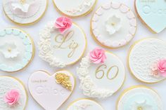 A selection of gorgeous cookies for a special lady's 60th birthday