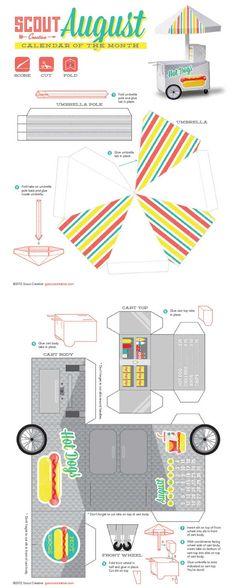 Calendrier papercraft août 2012
