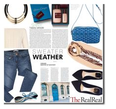 """""""Fall Style With The RealReal: Contest Entry"""" by cherry1987 ❤ liked on Polyvore featuring VILA, Burberry, J Brand, Elle, Goyard, Atelier Cologne, Christian Dior, Nine to Five and Topshop"""