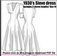 Free Sewing Patterns dress 1930s