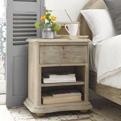 French Style Bedside Table | Avril | Loaf