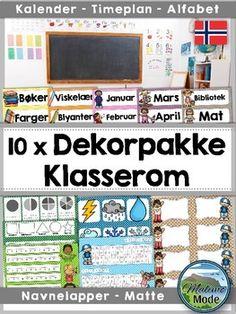 Denne+norske+dekorpakken+inneholder+alle+ti+hovedfarger+og+er+perfekt+for++dekorere+klasserommet+ditt,+i+tillegg+til++feste+striper+med+viktig+informasjon+p+pultene.+De+ti+pakkene+er+verdt+til+sammen+$60,+men+jeg+har+pakket+dem+sammen+s+du+kan+spare+mye!