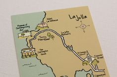 custom hand-drawn map for your invitation packet