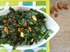 Gojee - Kale Salad With Apricots and Almonds by What Would Cathy Eat