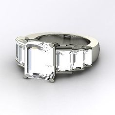 Evelyn Ring, Emerald-Cut Rock Crystal Sterling Silver Ring from Gemvara  replica of angelina jolie engagemnet ring...