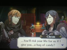 """""""You'll risk your life for us if I give you a bag of candy?"""" LOL"""