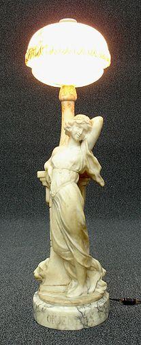 Vintage Mid Century Modern Mitchell Alabaster Marble 7 Way