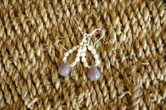 Lovely Lilac Teardrop Glass Bead Creamy White by MemesShoppe, $18.00