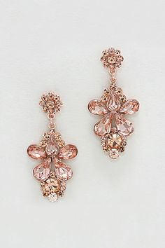 Aria Earrings in Rose Crystal on Emma Stine Limited $38