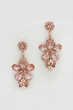 Aria Earrings in Rose Crystal