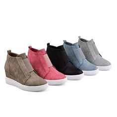 Chellysun Zipper Wedge Breathable Sneakers Fashion sneakers women s 2018  ideas casual wedges sneakers shoes for fall and winter f87582427f43